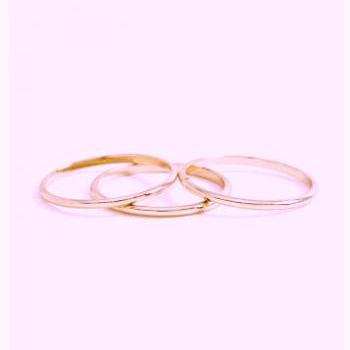 Rouelle ROZ Set of Five 14 Karat Rose Gold Plated Rings: Dainty Rose Gold Plated Above the Knuckle Rings.